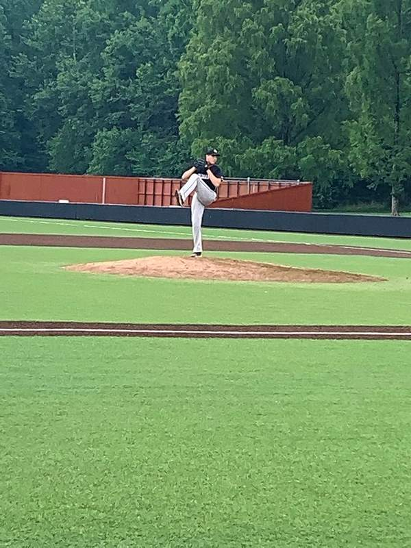 Johnston City sophomore Caden Clark was the starting pitcher in Saturday's SIBCA underclass game,