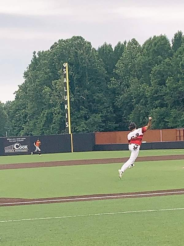 Du Quoin's Slade West makes a play during Saturday's SIBCA All-Star Game at SIU's Abe Martin Field.