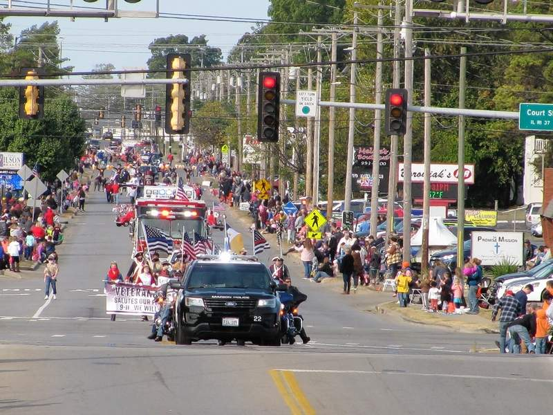 The annual Veterans on Parade draws hundreds to Marion each year.