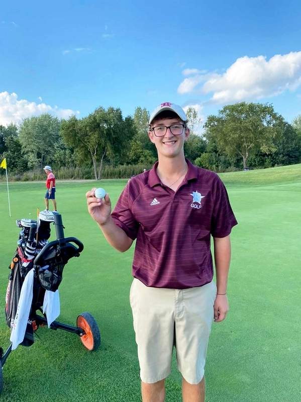 Benton's Cy Norman turned in a hole-in-one, the fifth of his career and third in Benton golf history at Monday's Effingham St. Anthony Matchplay Invitational.