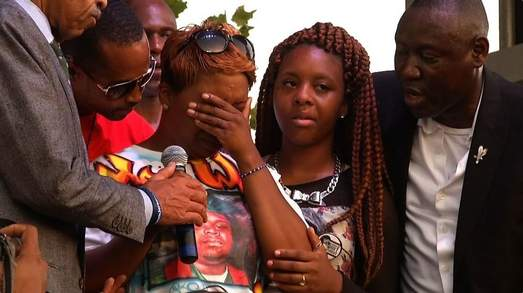 Images: Brown family asks for peace
